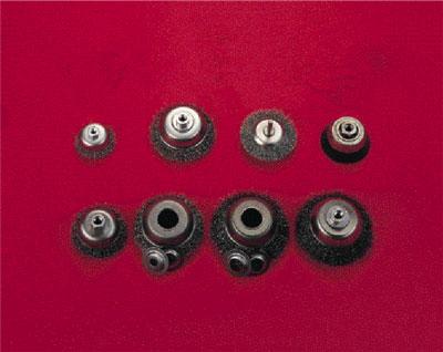 Axialborstar med 6mm axeltapp