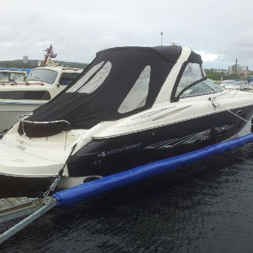 Skydd båtbom