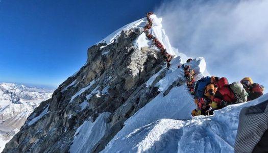 Everest - lånad bild från artikeln i BBC News