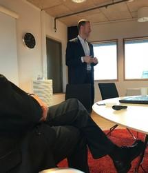 Mats Lundmark under Improveras informationsträff i Växjö